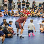Kyle instructing at Vector Wrestling Camp